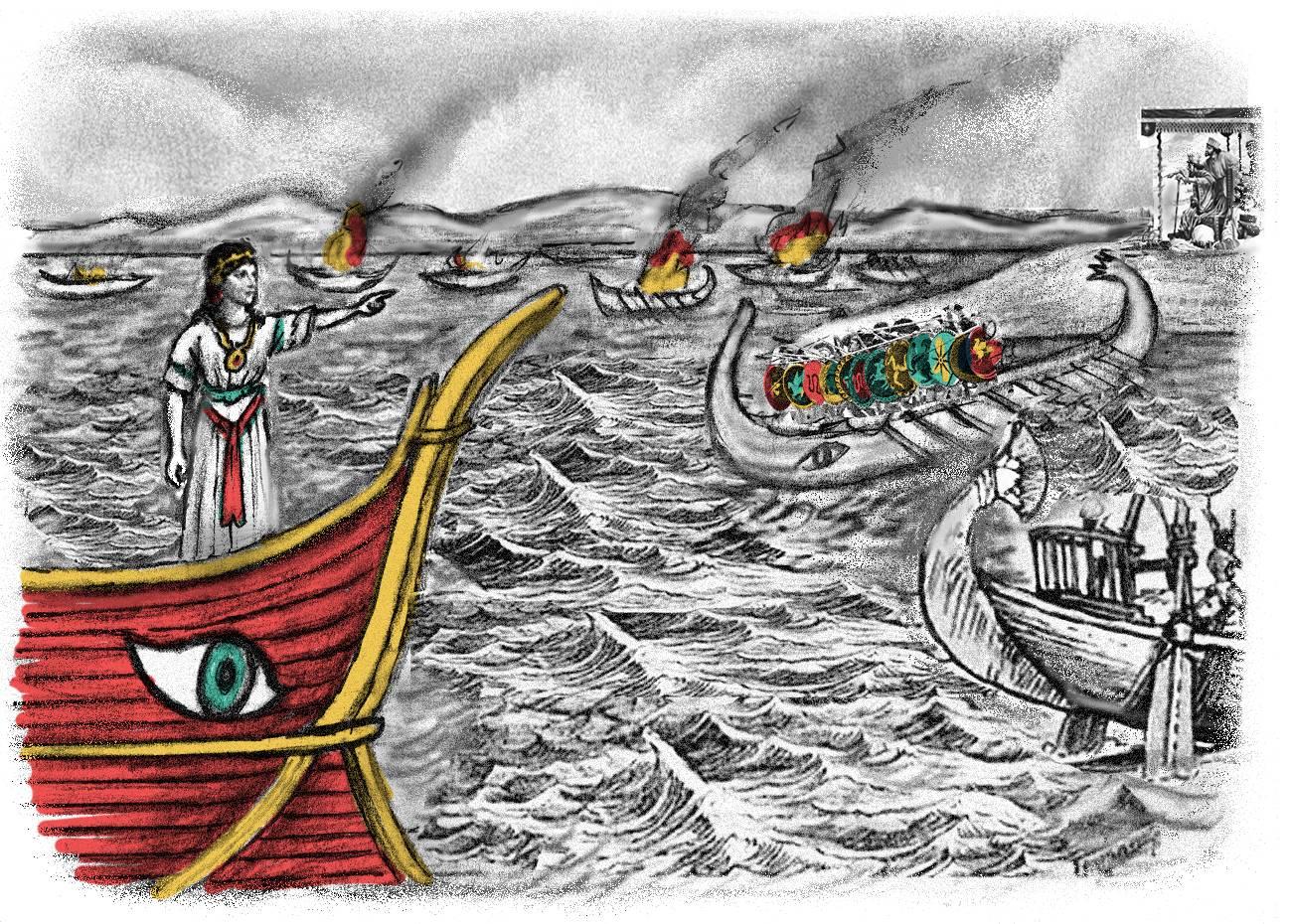 Persian queen and naval commander, history quest audio download